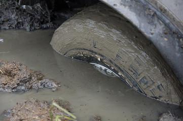 cars in mud