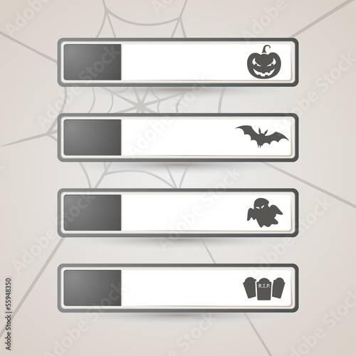 Sticker Label Halloween set