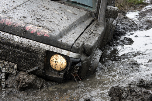 cars in mud