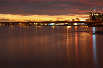 Richmond British Columbia, Fraser River, Dawn