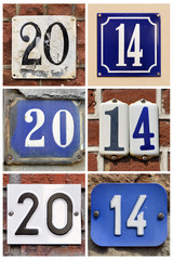 A collage of number 2014