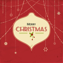 red vintage christmas background
