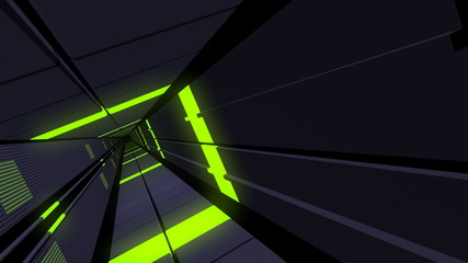 Futuristic elevator Shaft Loop.