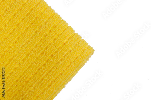 Yellow terry towel