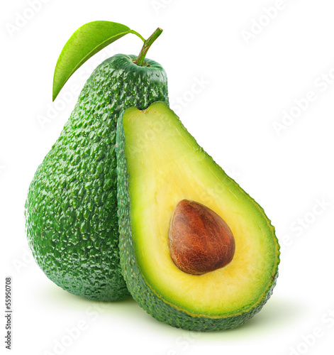 Foto op Aluminium Keuken Avocado isolated on white