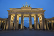 Leinwanddruck Bild - Berlino - Porta di Brandeburgo