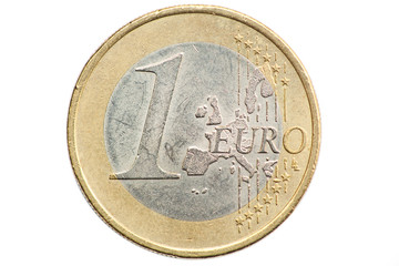 Euro Coins, Isolated