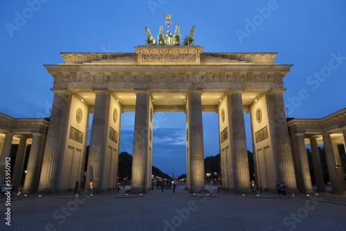 Leinwanddruck Bild Berlino - Porta di Brandeburgo