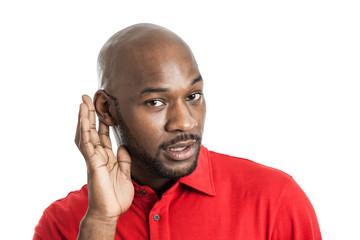 Black Man Listenting