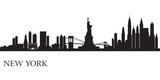 New York city skyline silhouette background poster