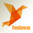 Freelancer Vogel Origami LOGO Orange