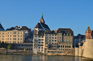 River Houses on the Rhine, Basel, Switzerland