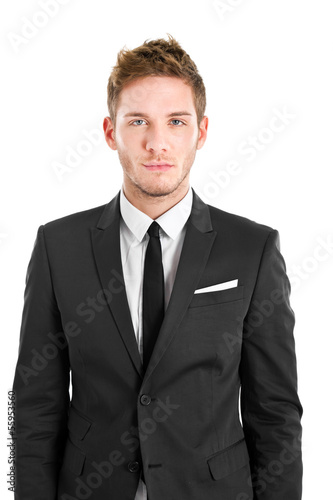 Businessman portrait isolated on white
