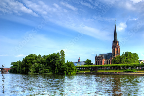 Frankfurt church on the river