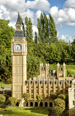 Big Ben of London in Mini Europe.