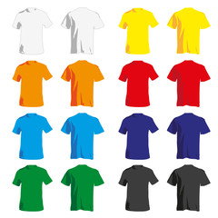 Set of colorful Tshirt for men