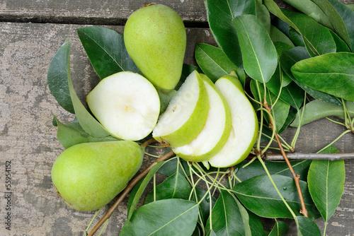 pears freshly picked