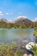 Beautiful Lake Strbske Pleso in High Tatras of Slovakia