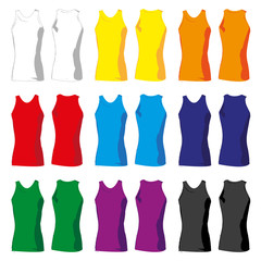 Set of colorful Tshirt tanks for women