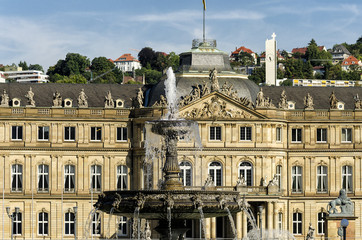 Stuttgart Castle in the city center.