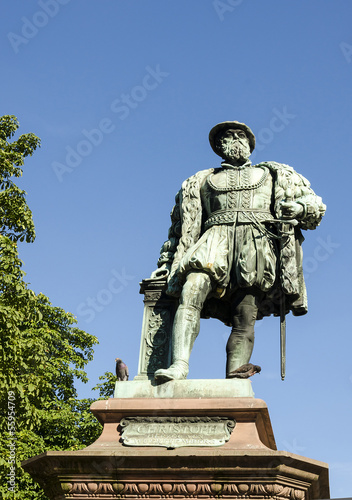 Statue of King Christopher Charles of Stuttgart.