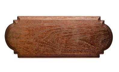 Isolated Teak Wood Plank