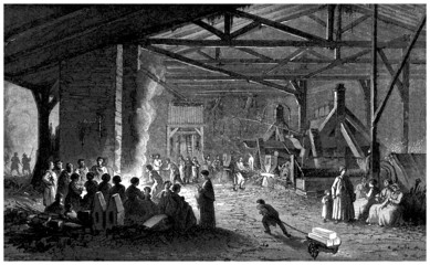 Forge : Interior - 19th century