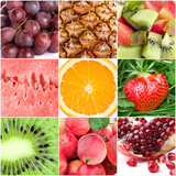 Healthy fresh fruit backgrounds