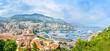 Monaco Montecarlo principality aerial view cityscape. France