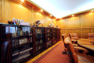 Bookcase in office