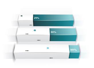 Modern box Design Minimal style infographic template