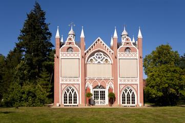 Wörlitz Gotisches Haus im Wörlitzer Park und Gartenreich