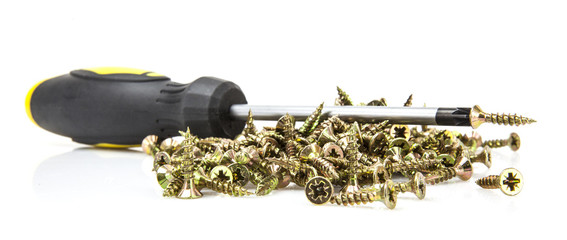 Wood screws with crosshead screwdriver
