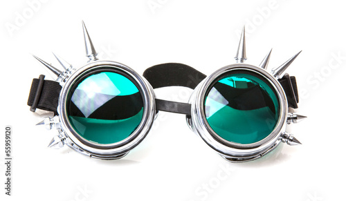 SteamPunk Goggles on white background