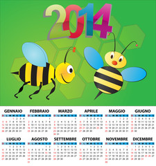 2014 bee calendar