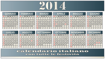 2014 italian calendar