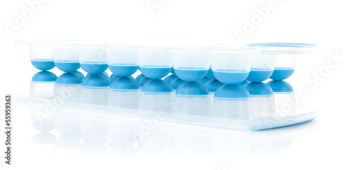 Modern Ice Cube trays on white background