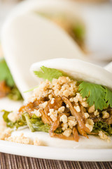 Gua Bao - Taiwanese burger with braised pork and peanuts.