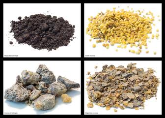Styrax balsam black, incense and migurtino