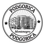 Podgorica stamp poster
