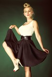 pin-up blonde girl in full length