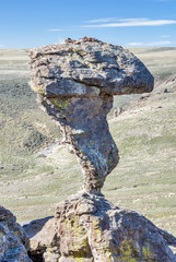 Balance Rock Idaho in the spring time