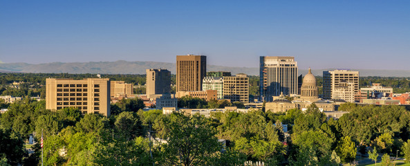 Morning view skyline of Boise Idaho
