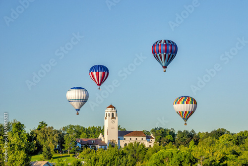 Boise TRain Depot with hot air balloons