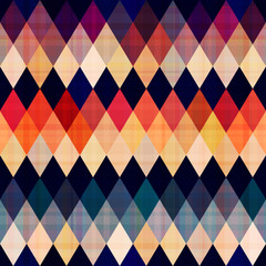 colorful seamless argyle pattern