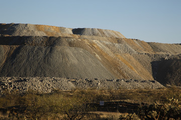Slag heap from copper mine works, Green Valley, Arizona, USA