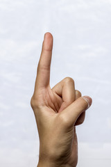 The index finger specifies