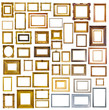 many picture frames. Isolated over white