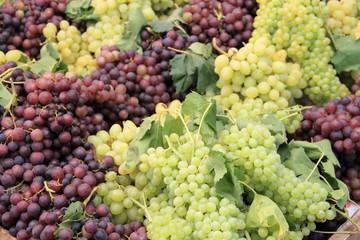 Weintrauben am Wochenmarkt