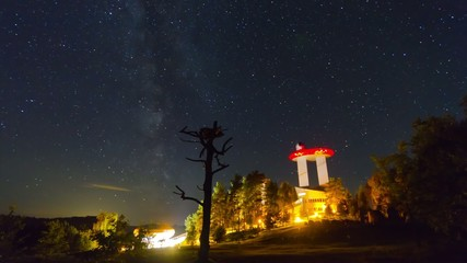 Observatory, night time-lapse